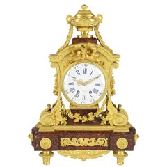 Fine Quality 19th Century French Gilded Mantel Clock