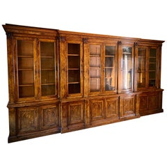 Fine Quality 19th Century Holland & Son's Walnut Bookcase Vitrines, Signed