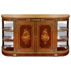 Fine Quality 19th Century Inlaid Credenza / Side Cabinet, by Lamb of Manchester
