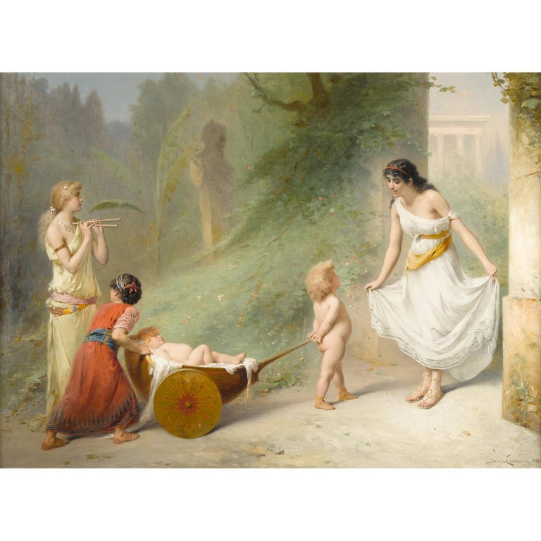A Fabulous fine quality oil painting, signed and dated 'Joseph Coomans 1889/ Paris' (lower right); titled (on the stretcher)   Title: On Ne Passe Pas!  Artist: Pierre Olivier Joseph Coomans (1816-1889)  Origin: Belgian Date: 19th