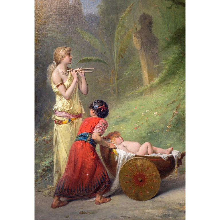 Belgian Fine Quality 19th Century Painting by Pierre Olivier Joseph Coomans For Sale