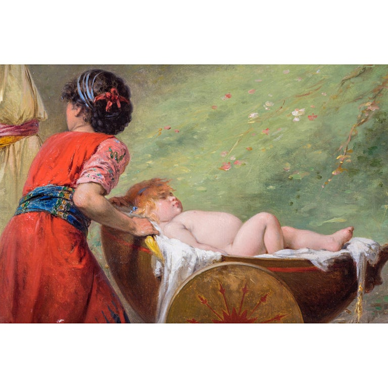 Fine Quality 19th Century Painting by Pierre Olivier Joseph Coomans In Excellent Condition For Sale In New York, NY