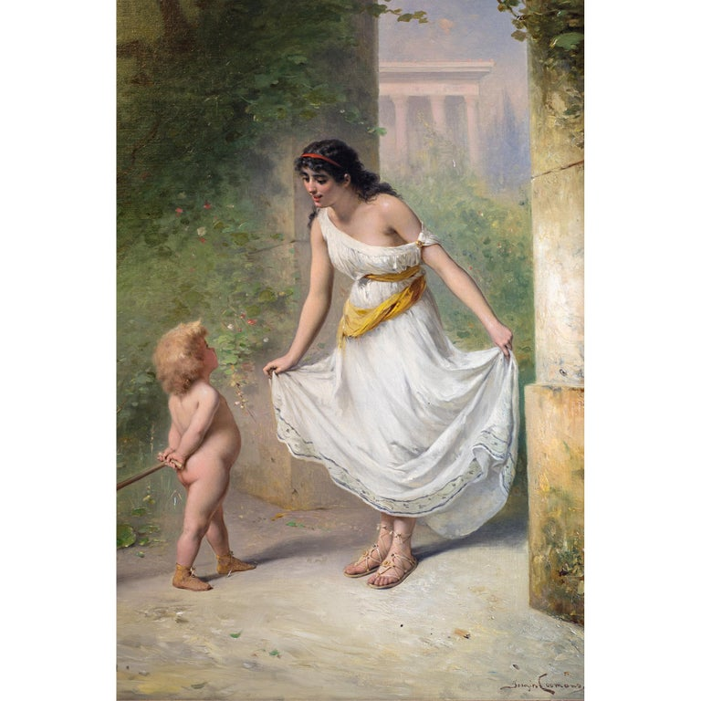 Canvas Fine Quality 19th Century Painting by Pierre Olivier Joseph Coomans For Sale