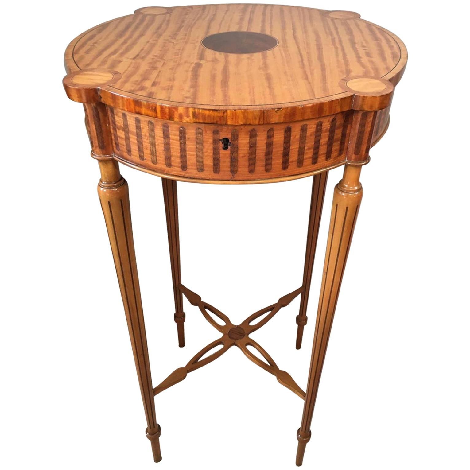 Fine Quality Antique 19th Century Inlaid Satinwood Centre Table