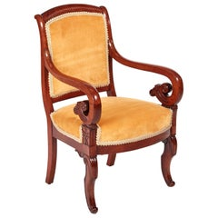 Fine Quality Antique Mahogany Regency Library Chair