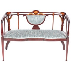 Fine Quality Antique Victorian Inlaid Mahogany Settee/Sofa