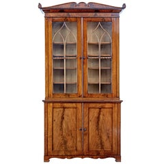 Fine Quality Early 19th Century Flame Mahogany Bookcase