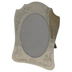 Fine Quality English Engraved Sterling Silver Photograph / Picture Frame