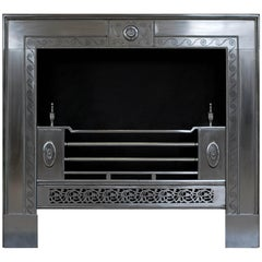 Fine Quality Engraved George III Style Steel Register Grate