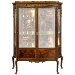 Fine Quality French Gilt-Bronze Mounted Vitrine