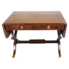 Fine Quality George III Inlaid Mahogany Freestanding Sofa Table
