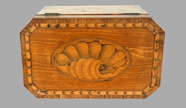 Late 18th Century Fine Quality George III Inlaid Satinwood Tea Caddy