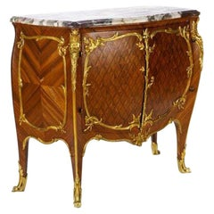 Fine Quality Gilt Bronze-Mounted Marble Top Commode by to François Linke