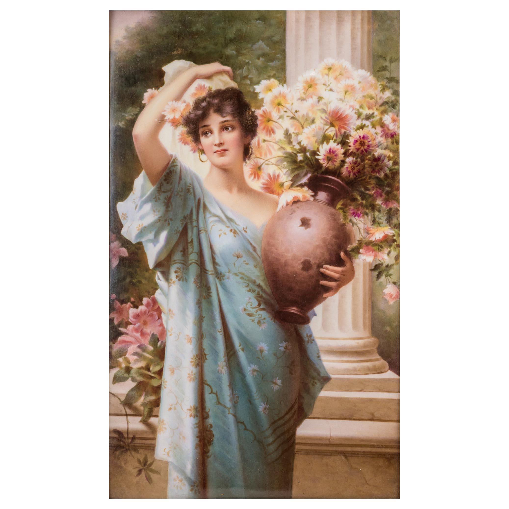 Fine Quality KPM Porcelain Plaque of a Young Beauty