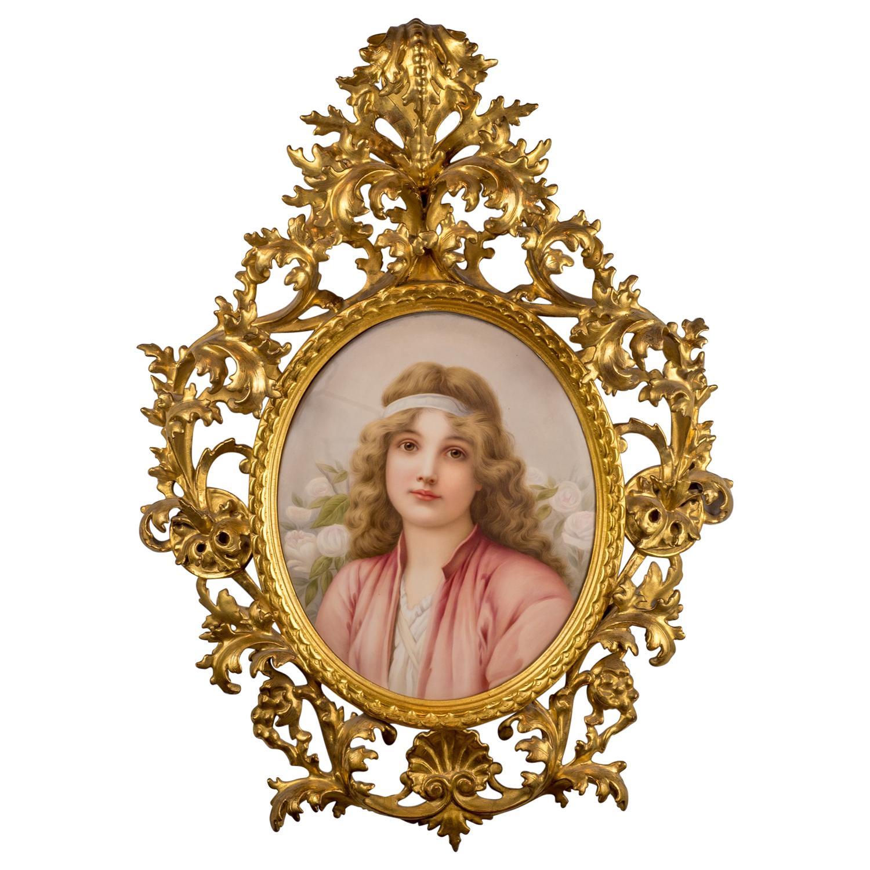 Fine Quality KPM Porcelain Plaque of a Young Woman