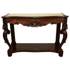 Fine Quality Mahogany Console Table