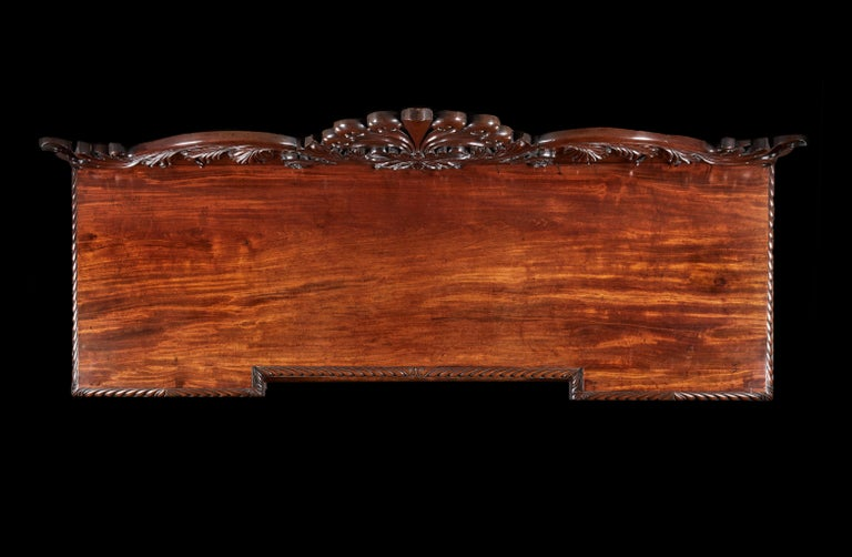 Fine Quality Mahogany William IV Breakfront Front Sideboard For Sale 1