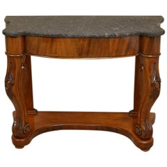 Fine Quality Marble-Top Victorian Antique Console Table