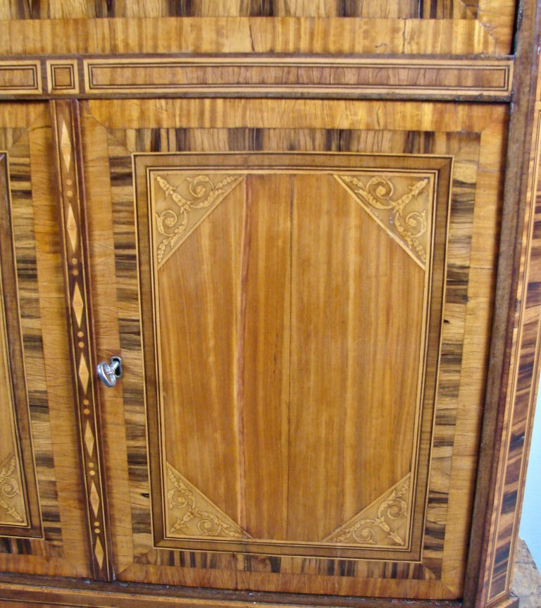 Fine Quality Neoclassical Period Dutch Inlaid Exotic Woods Secretaire Abattant For Sale 6