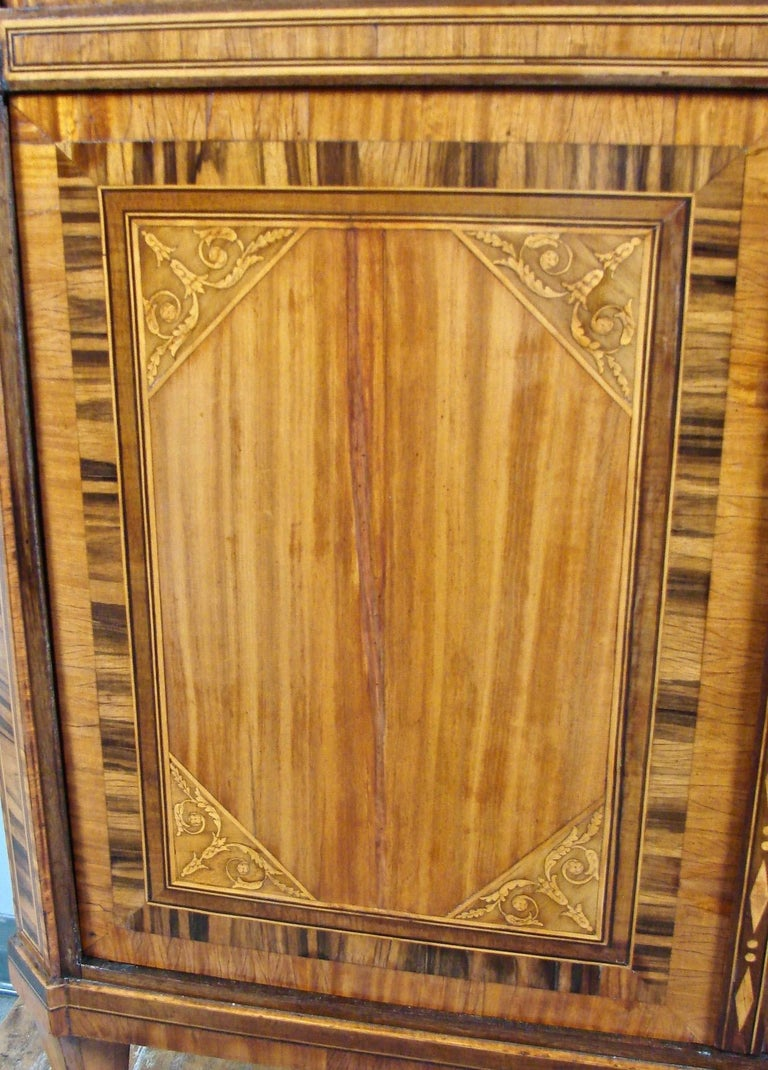 Fine Quality Neoclassical Period Dutch Inlaid Exotic Woods Secretaire Abattant For Sale 7