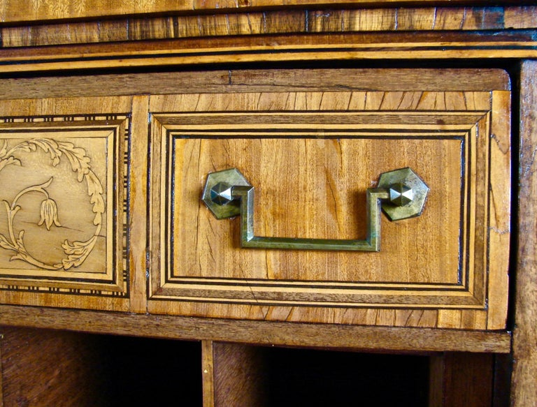 Fine Quality Neoclassical Period Dutch Inlaid Exotic Woods Secretaire Abattant For Sale 8
