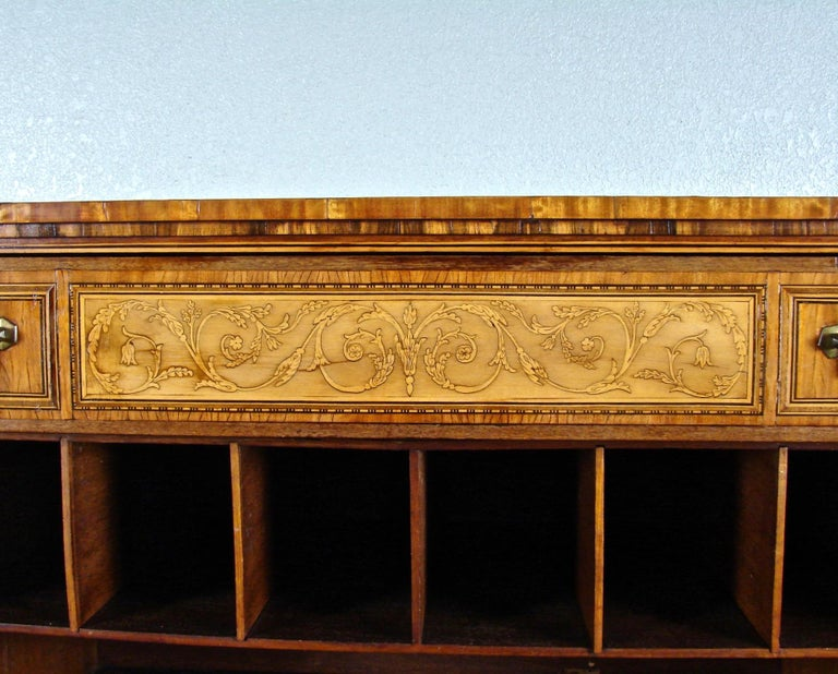 Fine Quality Neoclassical Period Dutch Inlaid Exotic Woods Secretaire Abattant For Sale 9