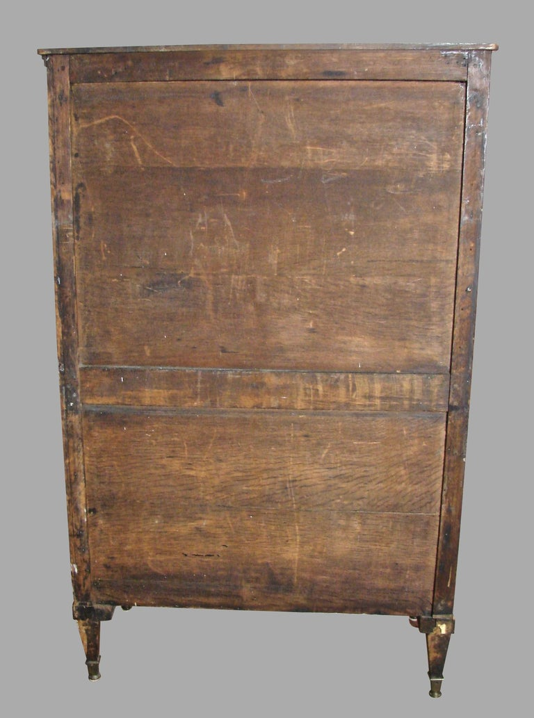Fine Quality Neoclassical Period Dutch Inlaid Exotic Woods Secretaire Abattant For Sale 12