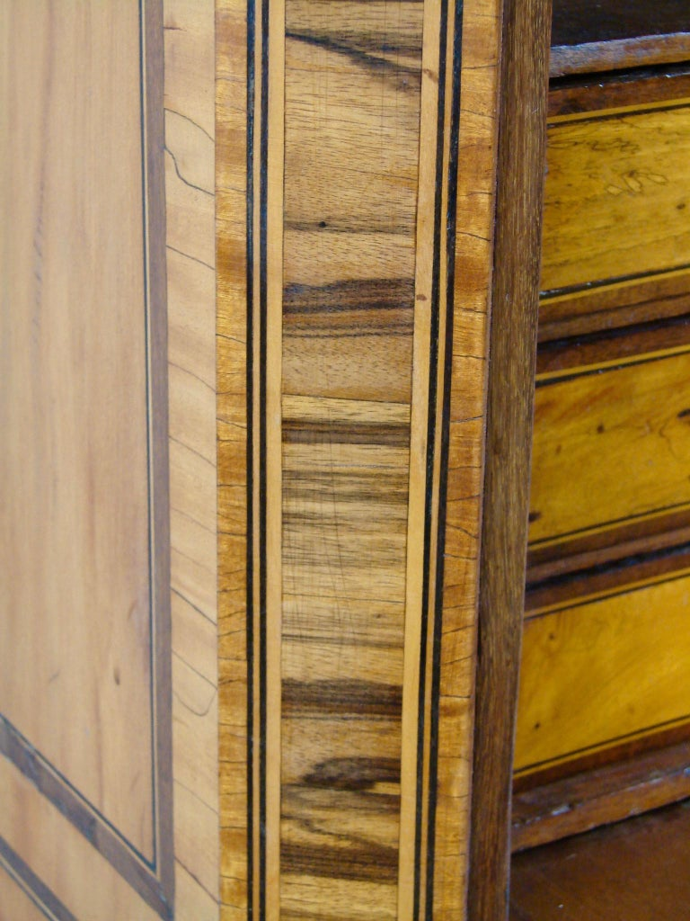 Fine Quality Neoclassical Period Dutch Inlaid Exotic Woods Secretaire Abattant For Sale 3