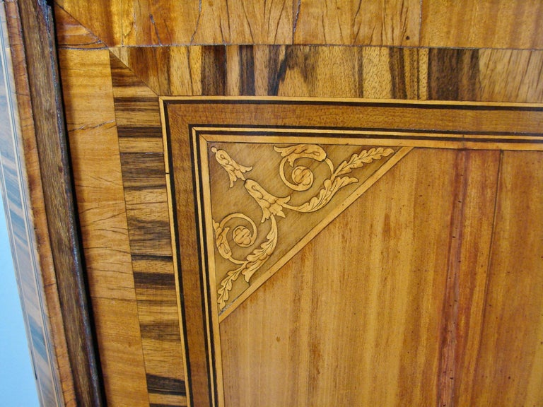 Fine Quality Neoclassical Period Dutch Inlaid Exotic Woods Secretaire Abattant For Sale 4