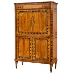 Dutch Neoclassical Inlaid Satinwood Secretaire Abattant