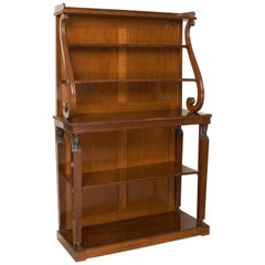 Fine Quality Open Bookcase, Regency Period, Early 19th Century