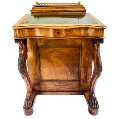 Fine Quality Victorian Burr Walnut Davenport Desk