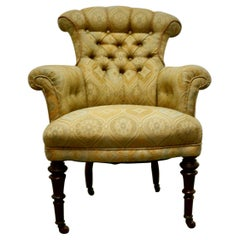 Fine Quality Victorian Button Back Arm Chair