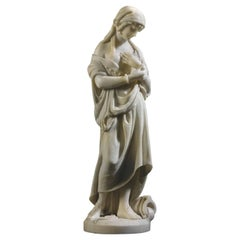 White Marble Statue Sculpture by Romanelli