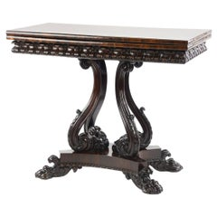 Fine Quality William IV Rosewood Card Table, Attributed to Gillows