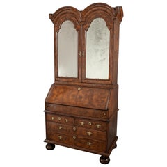Fine Queen Anne Walnut Double Dome Cabinet