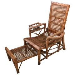 Fine Rattan Lounger circa 1900, Garden Chair,  wicker chair