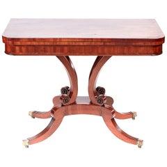 Fine Regency Antique Mahogany Card Table