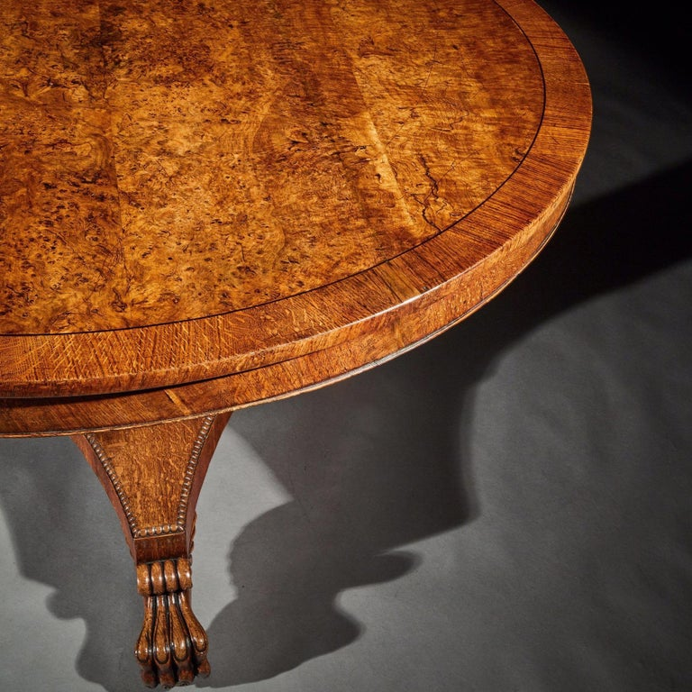Fine Regency Burr Oak Tilt-Top Table For Sale 3