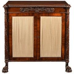 Fine Regency Irish Mahogany Two-Door Side Cabinet Chiffonier