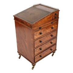 Fine Regency Mahogany Davenport Desk, 19th Century