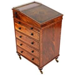 Fine 19th Century Small Regency Mahogany Davenport Desk