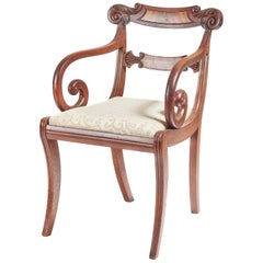 Fine Regency Mahogany Elbow or Desk Chair