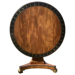 Fine Regency Mahogany Library Centre Table