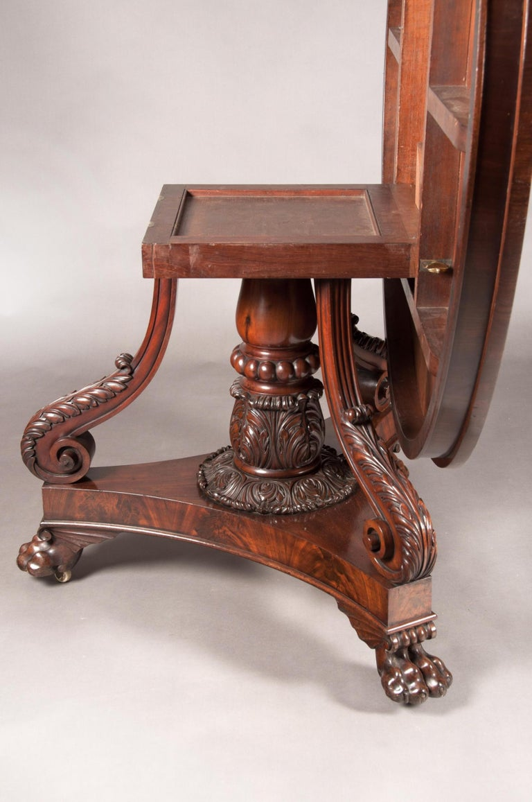 Fine Regency Period Mahogany Centre Table For Sale 6
