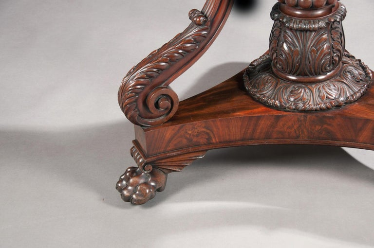 Fine Regency Period Mahogany Centre Table In Good Condition For Sale In Benington, Herts