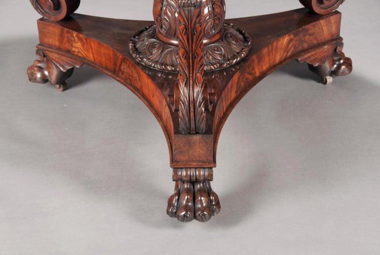 19th Century Fine Regency Period Mahogany Centre Table For Sale