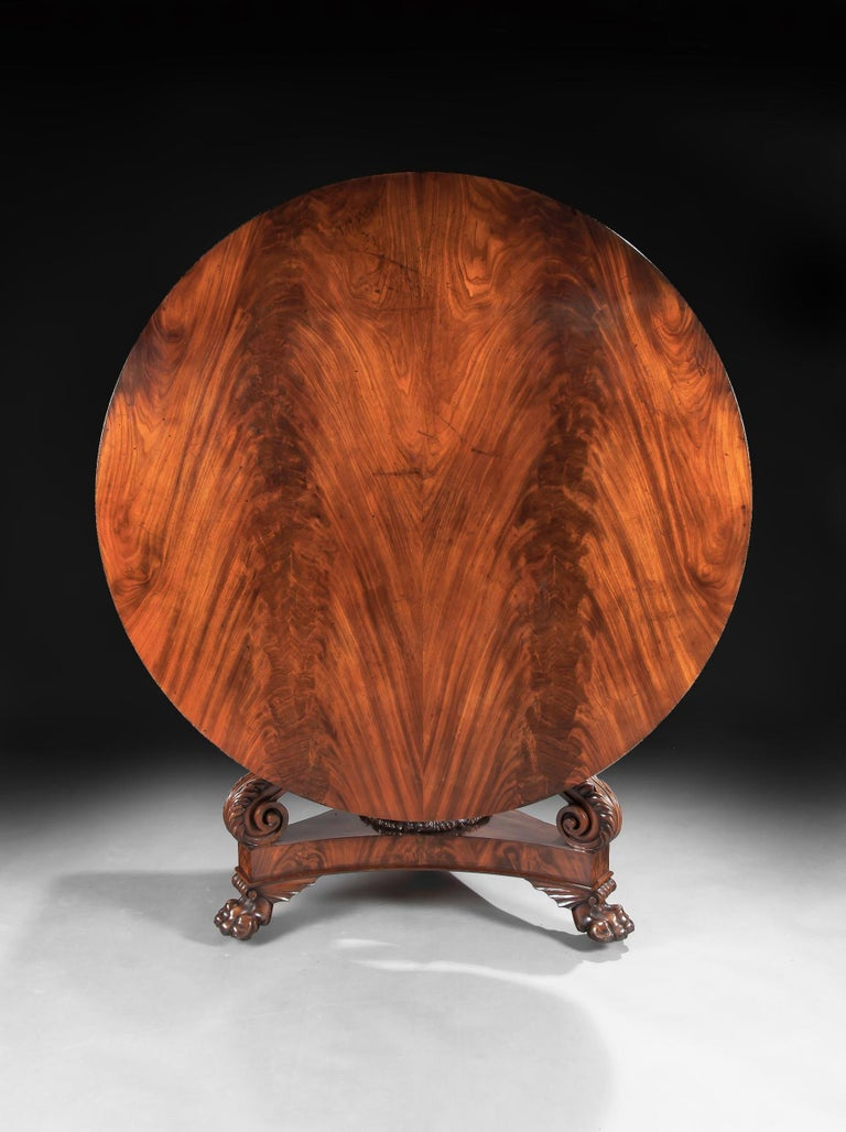 Fine Regency Period Mahogany Centre Table For Sale 3