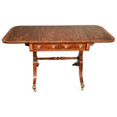 Fine Regency Period Mahogany Sofa Table