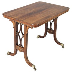 Fine Regency Period Rosewood End-Standard Centre-Table